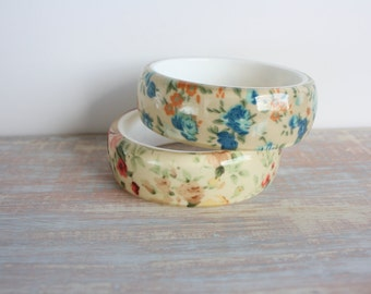 Vintage fabric bracelets-- Free Shipping