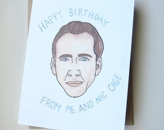 Nicholas Cage Birthday Card// Funny Birthday