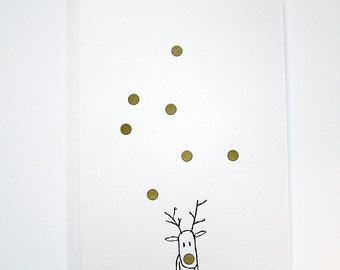 LETTERPRESS Christmas Card - RUDOLF