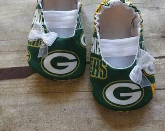 Green Bay Packers Baby Maryjane Booties