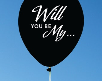 Custom Balloons to ask Bridemaids and Groomsmen to be in your wedding