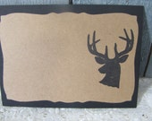 Deer Head Silhouette Place Cards Food Buffet Label Tags Wedding Labels Wildlife Cards set of 12