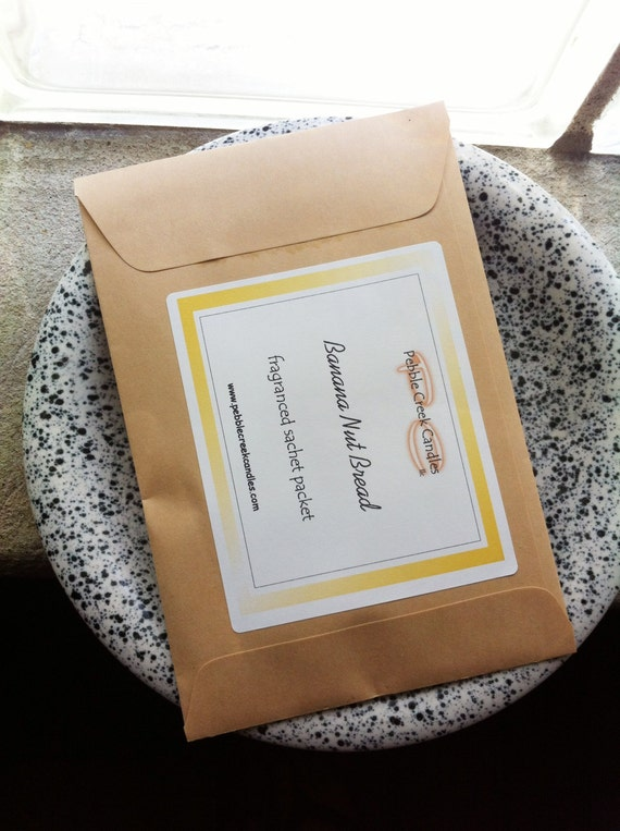 Banana Nut Bread Homemade Sachets For Drawers, Candle Home Fragrance Without A Flame, Banana Scented Drawer Sachet, Home Decor