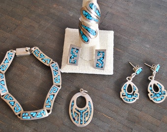 STERLING SILVER TURQUOISE set