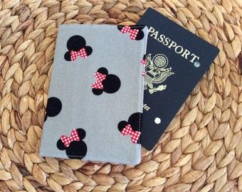 Minnie Mouse Passport Cover - Mickey Passport Holder - International Travel - Disney Fan Gift - Passport Wallet Mouse