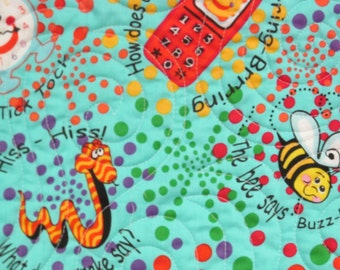 I Spy Quilt-Fun Childs Play Quilt-Red Polka Dots-Blues/All Colors-Crazy Snakes-Bumblebees-Sheep-etc