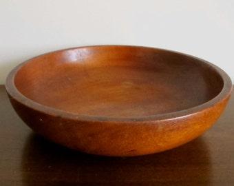 Vintage Wood Treen Bowl - Wood Kneading Bowl