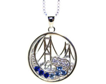 Mackinac Bridge Wave Necklace