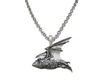 Flying Bat Pendant Necklace