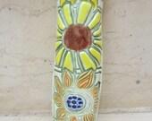 Sunflower and Daisy Ceramic Mezuzah