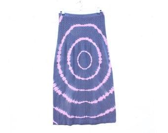 90s PSYCHEDELIC Acid Trip Tie Dye / Optical Illusion Stapless Bandeau Mini / Midi Summer Dress