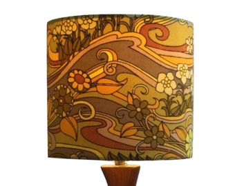 Lampshade Vintage Jonelle Water Music Fabric