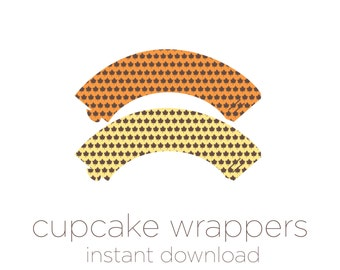 Printable Cupcake Wrappers - Thanksgiving Cupcake Wrappers - Thanksgiving Decor - Instant Download