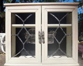 White Cabinet, Curio Cabinet, Decoupage Cabinet, Black White, Storage, Art Nouveau, Knick Knack Shelf, Turn of Century, Reclining Lady Artsy