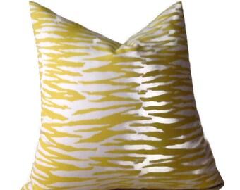 Trina Turk Yellow Zebra Print Pillow Cover, Decorative Throw Pillow Cover, Invisible Zipper Closure, Home and Living, Housewares, Home Decor