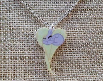 My Little Pony Derpy Hooves Heart Necklace, Kawaii Pony Friendship is Magic