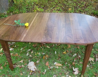 Walnut Oval Extension Table