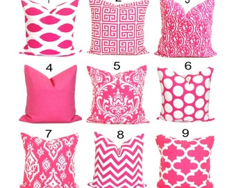 PINK Decorative Pillows.Throw  Pillow Cover.Pink Toss Pillow Cover.Pink Throw Pillow Pink Cushion Cover. Pink Euro Sham. Pink Pillow Cover.