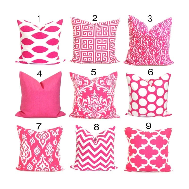 Pink Throw Pillows For Couch : PINK Decorative Pillows.Throw Pillow Cover.Pink Toss Pillow