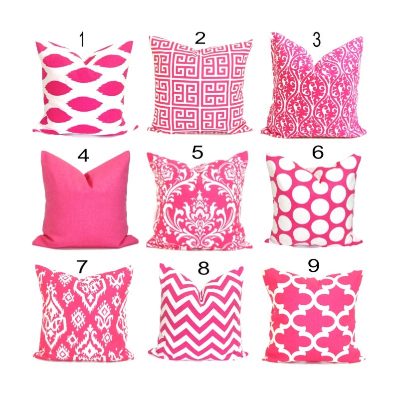 Pink Decorative Pillow Covers : PINK Decorative Pillows.Throw Pillow Cover.Pink Toss Pillow