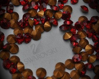 1012 18ss Genuine Swarovski Crystals Siam Rounds Foiled Rhinestones 20pcs