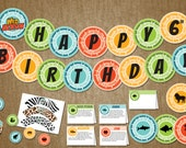 Wild Kratts Birthday Party Pack - Boy Decor Birthday Kit; - DIY Self Printable -Banner, Creature Disk, Tented Card, Cupcake Wrapper and Tag