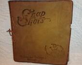 Unused Leather Bound Photo Album/Scrap Book