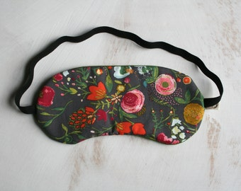 Dreaming in the Garden Sleepmask Floral Green Sleep Mask Travel Mask Spa & Relaxation Eye Sleep Mask