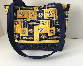 Nashville Predators Quilted Purse - Quilted Tote - Market Bag -Shopping Bag -Shoulder  Bag - NFL Tote - NHL Tote  -MLB Tote - Predators Tote