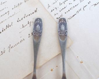 Set of 2 Vintage Tea Spoons - USSR Spoons - Antique Soviet