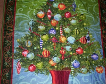 CHRISTMAS TREE Hand Quilted Wall Hanging