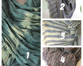 Men's Scarves Emerald green black gray blue stripe long men's scarves- Man fashion-mad-women's-men's scarf Turkey scarves2012