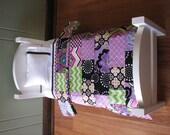 "Purple / Black / Green American Girl/18"" doll sized Quilt Bedding Set"