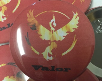 "Team Valor 2.25"" pin"