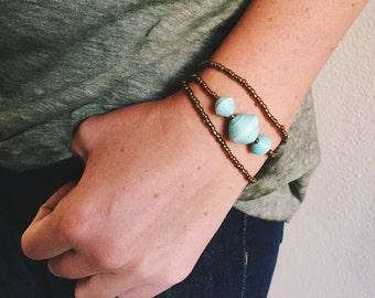 Mint Three Bead Bracelet Set