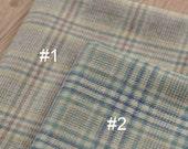 Thick Plaid Wool Blended Fabric half yard MJ334