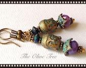 Zen Buddha Bohemian Dangle Earrings - Boho Earrings - Boho Jewelry - Hippie Earrings - Gypsy Earrings