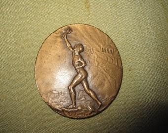 Medal Hennigsdorf Olimpiajahr 1936 D.4 cm Top Rar