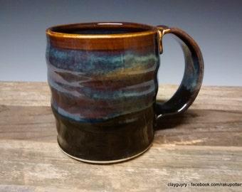 Dusk in the Desert - Ceramic Mug - Handmade Pottery - Blue Stoneware