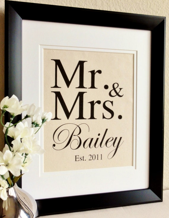 Cotton Wedding Anniversary Gift Ideas Australia : Cotton Anniversary Gift MR & MRS The perfect gift by 505Vintage