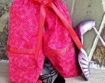 Shoe Pants Travel Bag, Red Dot Travel Shoe Bag, Free Gift Bag, Separated Shoe Bag