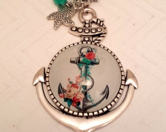 Anchor - Cabochon Style Necklace