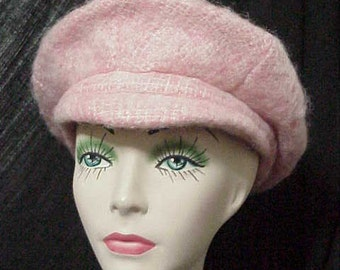 Mohair Hat-Irish Newsboy Women's Hat   Perfectly Pink Donegal