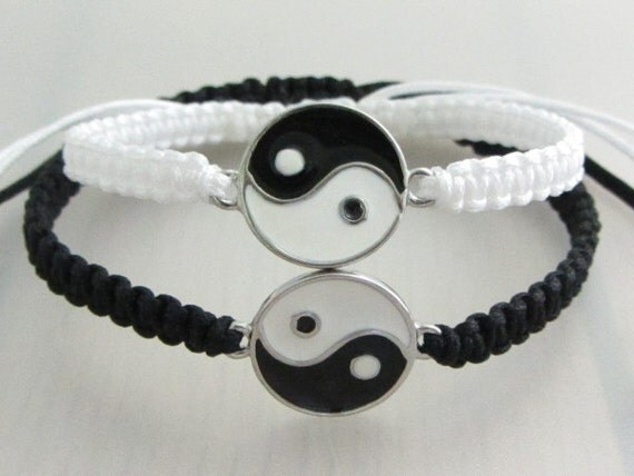 yin yang bracelet for couples white black yin yang bracelets boyfriend by purplewyvernjewels 2518
