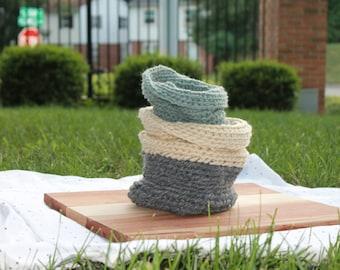 Knit Basket Decor