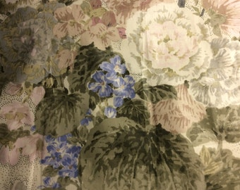 Three Sample Pieces of FLORAL CHINTZ in Complementary Tones