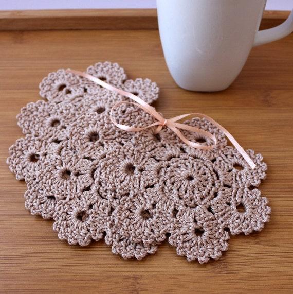 Crochet Coaster PATTERN Crochet Home Decor Pattern Flower