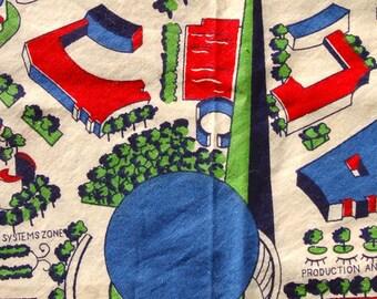1939 NY Worlds Fair map apron