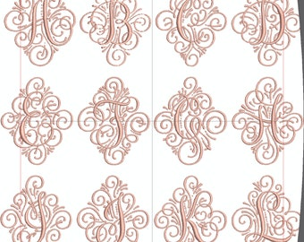 Single Initial Machine Embroidery Monogram Font