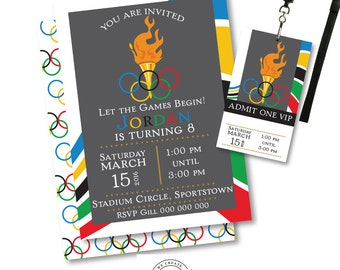 Olympic Party Invitation | Olympic Party Invitation Printable | Olympic Party | Party Printables